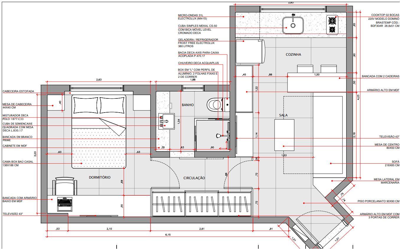 Apartamento quadrado